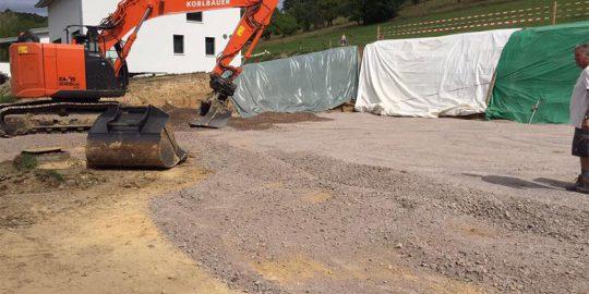 Tiefbau, Aushub Arbeiten für Ihren Bauplatz in Waldshut-Tiengen von Wurst Tief- und Pflasterbau