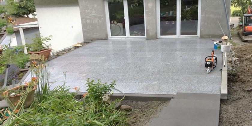 Terrassenbau von Wurst Tief- und Pflasterbau