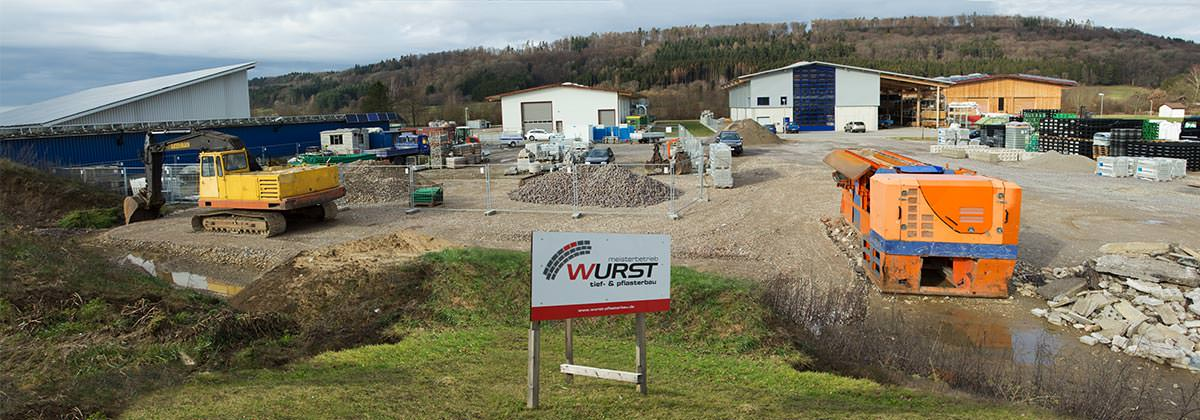 Wurst Tief- & Pflasterbau | Bauhof